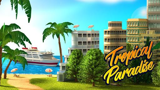 Code Triche Tropic Paradise Sim: Town Building City Game APK MOD screenshots 1