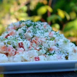 Ensalad rusa or Russian (South American) potato salad