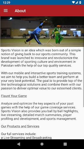 sports vision cricket score screenshot 2