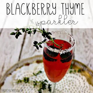 Blackberry Thyme Sparkler Cocktail.