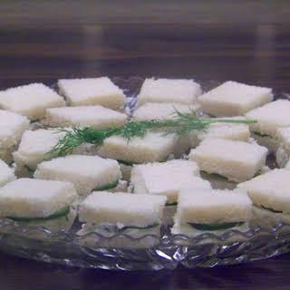 Cucumber, Dill & Cream Cheese Tea Sandwiches.