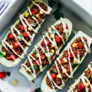 Vegan Zucchini Taco Boats.