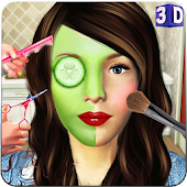 Beauty Spa Salon 3D, Make Up & Hair Cutting Games