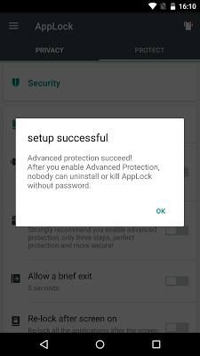 Advanced Protection ☞ AppLock - screenshot