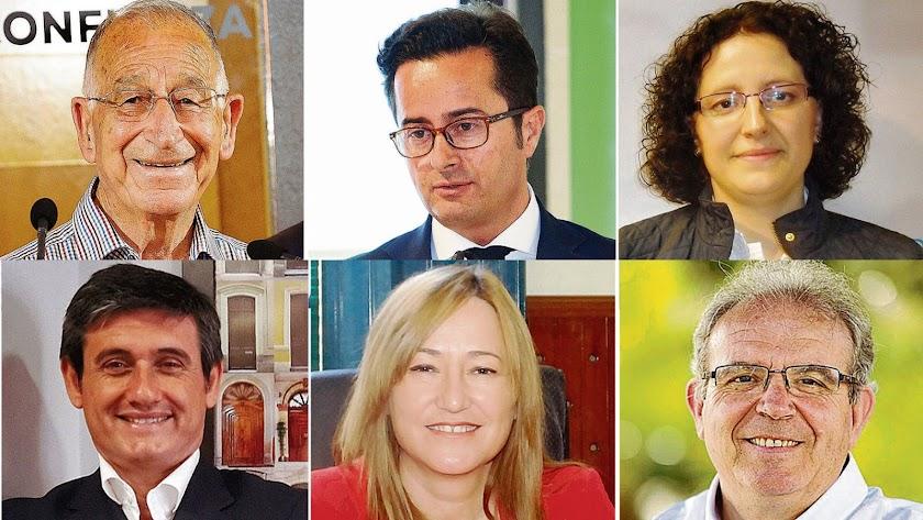 Alcaldables de Roquetas (PP), El Ejido (PP), Balanegra (PP), Adra (PP), Níjar (PSOE) y Vícar (PSOE) que revalidan triunfo