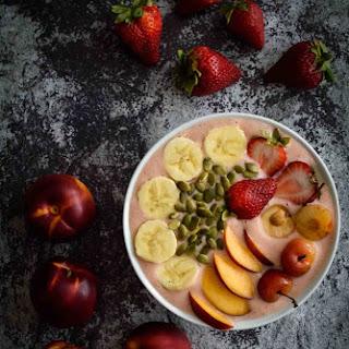 Strawberry Peach Yogurt Bowl Recipe