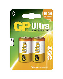 Batteri Ultra Alkaline C-batteri, 14AU/LR14, 2-pack