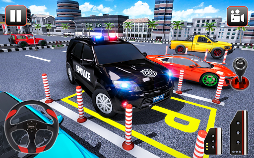 Police Parking Adventure - Car Games Rush 3D apkpoly screenshots 4