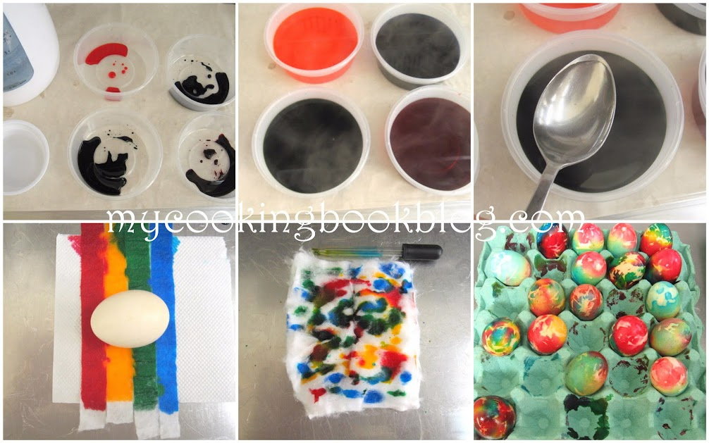 Боядисване на Великденски яйца с памук