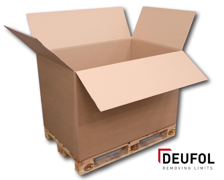 Cardboard box in three-sided