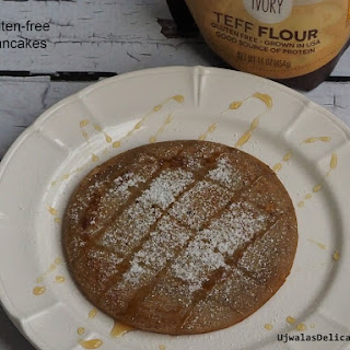 Gluten-free Teff flour pancakes.