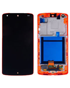 Nexus 5 Display Digitizer with Red Frame Black