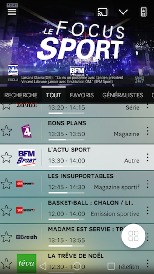 SFR TV- screenshot