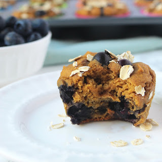 Sweet Potato Blueberry Protein Muffins.
