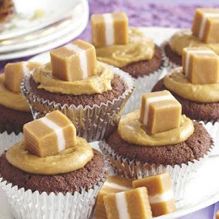Caramel Chocolate Cupcakes.