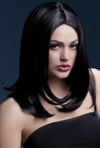 Peruk Sophia, svart