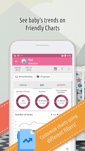 Baby Daybook — Care, Breastfeeding & Sleep Tracker app (apk) free download for Android/PC/Windows screenshot