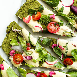 Green Split Pea & Spinach Pizza Crust   Vegan & Gluten-Free.