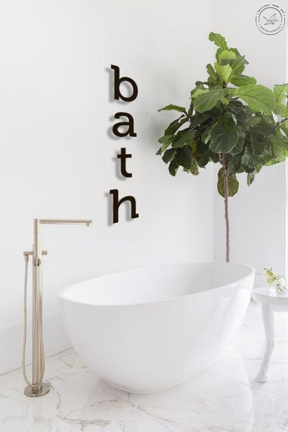 """It's Time To """"BATH"""" Sign Wall Art"""