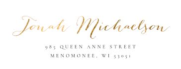 Jonah Michaelson - Address Label template