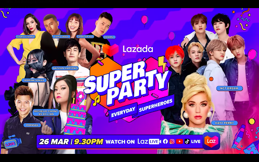 Lazada's birthday: Virtual concert featuring Katy Perry, NCT Dream and Singaporean artistes