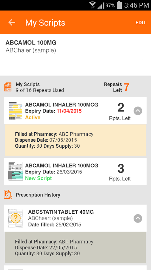 MedAdvisor- screenshot
