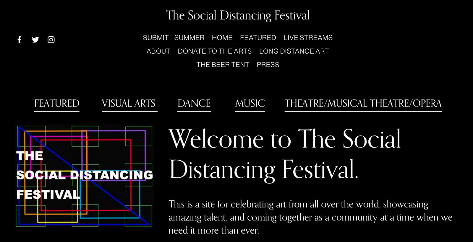 promote livestreams social distancing