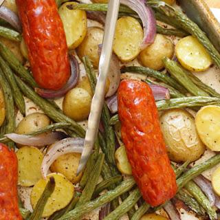 Sausage and Potatoes Sheet-Pan Dinner.