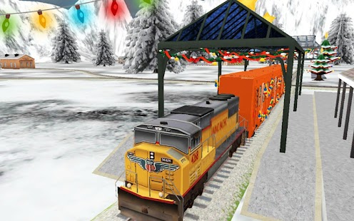 Santa Christmas Train Sim - náhled