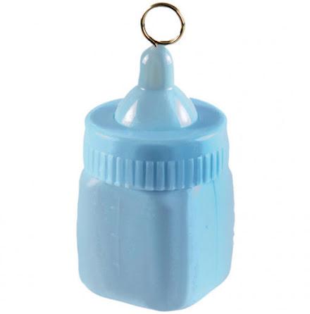 Ballongvikt, nappflaska blå 80g