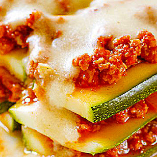 Zucchini Lasagna with Creamy Cheese Sauce
