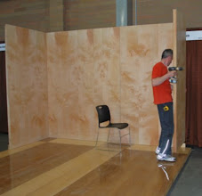 Photo: Connecting the walls of your  sandwich panel trade show booth is simple.