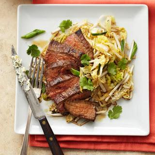 Lemon Butter Flank Steak.