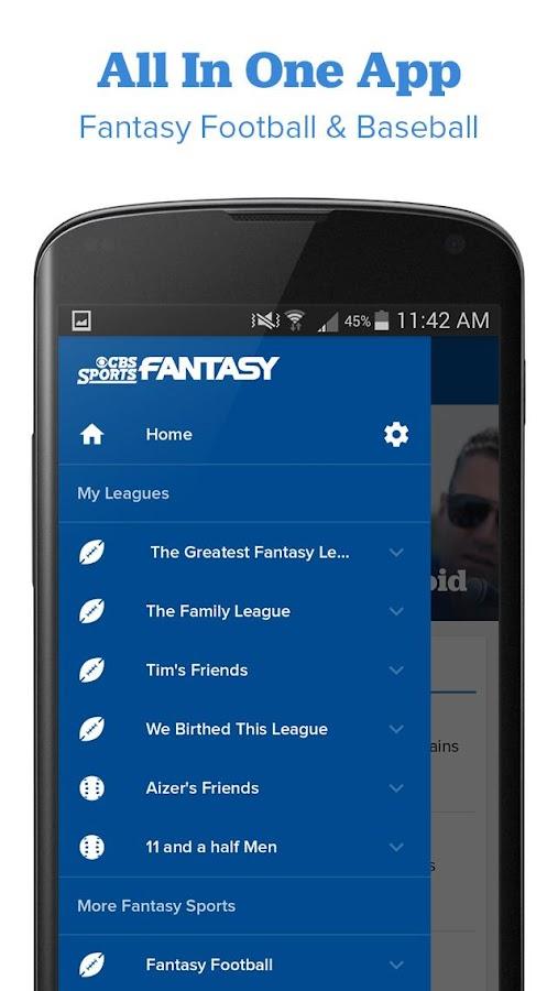 CBS Sports Fantasy- screenshot