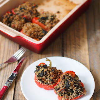 Quinoa and Kale Stuffed Peppers