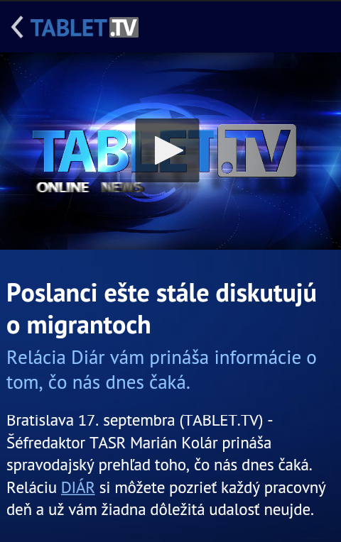 Tablet.TV- screenshot