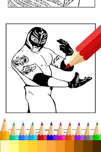 coloring book for wwe fans screenshot thumbnail - Wwe Pictures To Colour