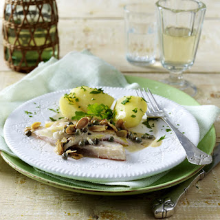 Sole with Capers, Potatoes and Calvados Cream.