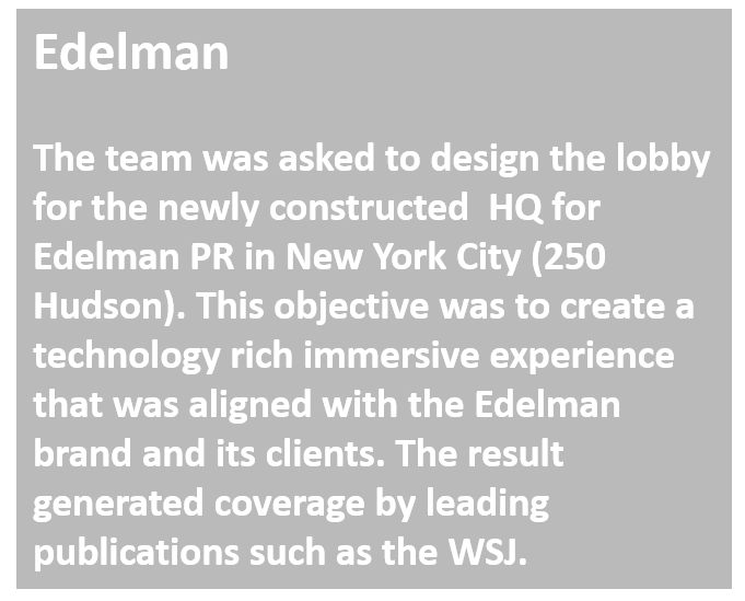 Techtrend design digital experience for Edelman HQ in NYC