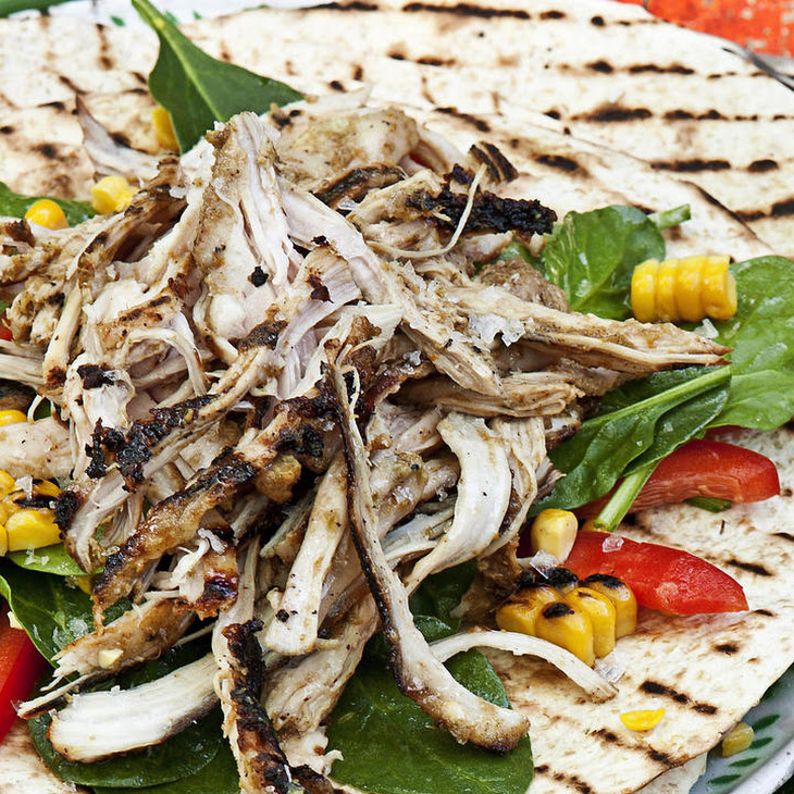 Jerk Chicken Tacos with Roasted Corn Salad