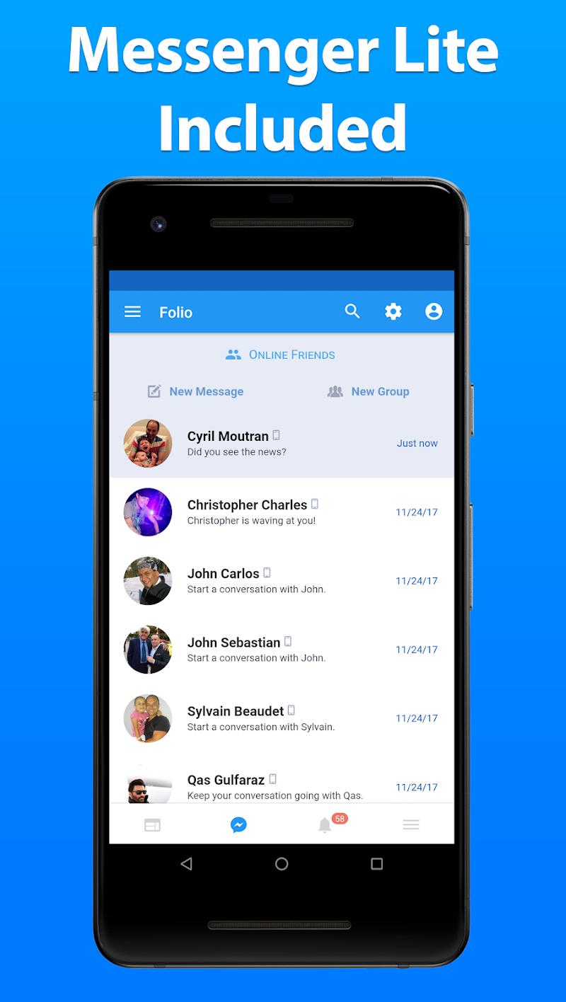 Folio for Facebook & Messenger Screenshot 1