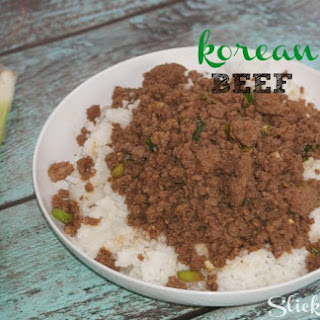 Korean Beef Recipe {using Ground Beef}.