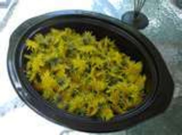 Pick your dandelions on a sunny day , taking just the flowertops . Rinse...