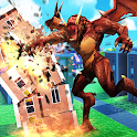 Dragon Vs Crowd - Distruction City Simulator icon