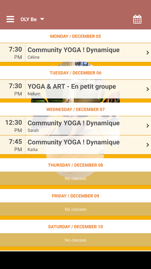 OLY Be - Cours de Yoga- screenshot