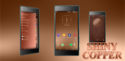Shiny Copper Theme for Xperia APK