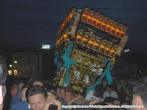 Photo: 【平成16年(2004) 本宮】 激しく神輿をもみ、歓声が上がる。