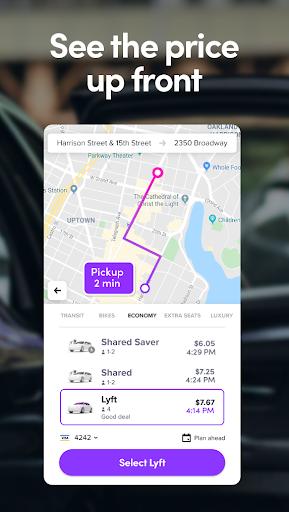 Lyft - Rideshare, Bikes, Scooters & Transit screenshots 3