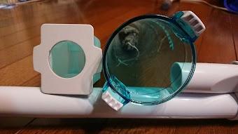 マキタの充電式掃除機 サイクロンアタッチメント 紙パック比較