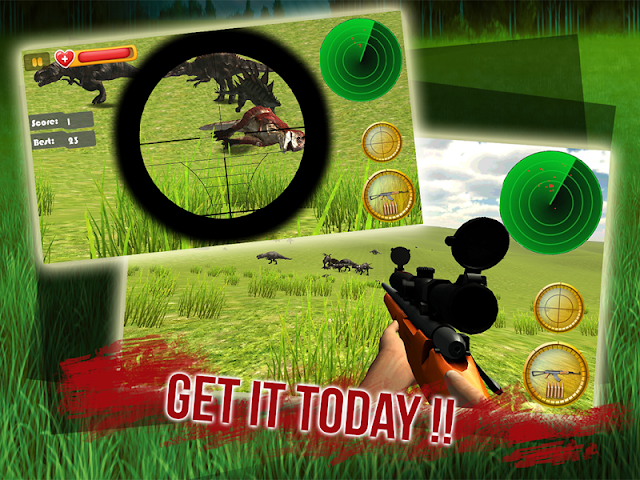 android Dino Sniper Jurassic World 3D Screenshot 4
